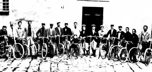Foto del gruppo ciclisti Pesciatini (il Maestro al centro)