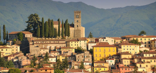 Barga at Sunset