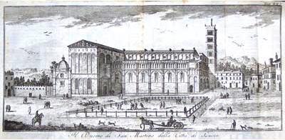 Il Duomo di San Martino nel 1750