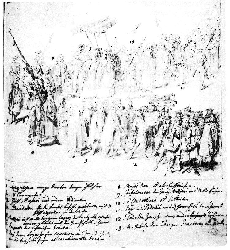 Georg Christoph Martini - Corteo Palatino