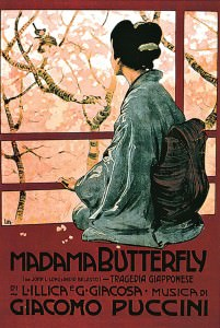 Madama Butterfly in un'illustrazione di Leopoldo Metlicovitz